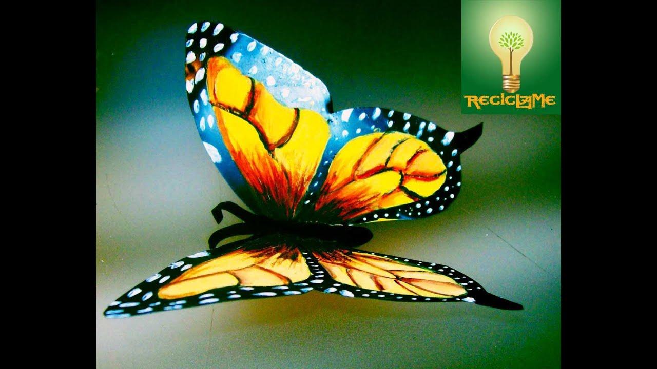cómo crear mariposas de lata aluminio♥ - YouTube