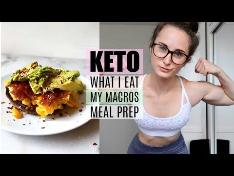 WHAT I EAT IN A DAY ON THE KETO DIET | Meal Prep + My Macros + Full Day of Eating