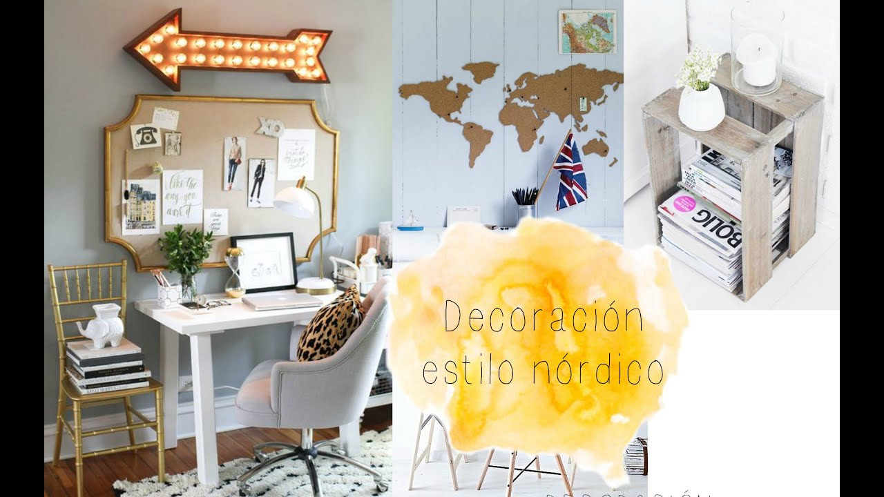 Ideas para decorar tu habitaci n estilo n rdico youtube for Ideas decoracion habitacion