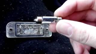 Mercedes Benz не горить одна з ламп підсвічування номера / ремонт