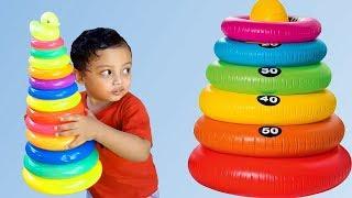 Bantu Reihan cari Mainan Donat Ring Susun yang Hilang