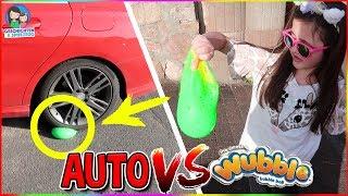 WUBBLE BUBBLE SCHLEIM vs. AUTO & SCHERE! Härtetest Challenge - Geschichten und Spielzeug