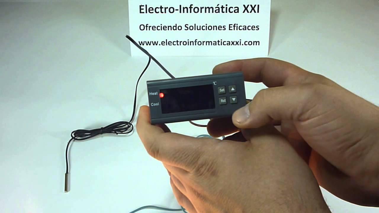 Conectar Y Programar Termostato Digital Programable Mh1210a Para Stc1000 Microcomputer Temperature Controller 220v W Sensor Incubadoras Nacedoras Terrarios Youtube