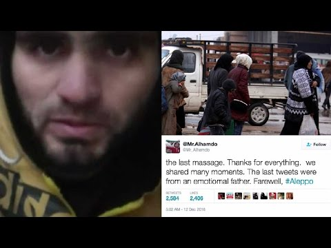 Aleppo residents post goodbye messages