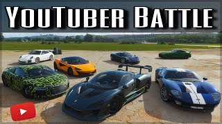 The Ultimate YouTuber Dragrace | Forza Horizon 4 | ft. Doug Demuro, Salomondrin, JP & more!!