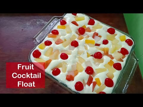 Graham Fruit Cocktail Float | How to make Graham Crema De Fruta
