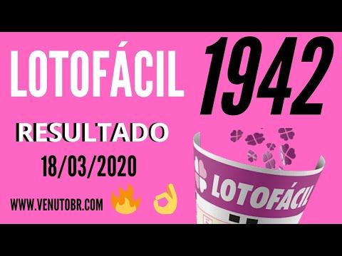 🍀 Resultado lotofácil 18/03, resultado da lotofácil de hoje concurso 1942