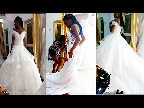 TRYING ON WEDDING DRESSES || ABUJA VLOG #10