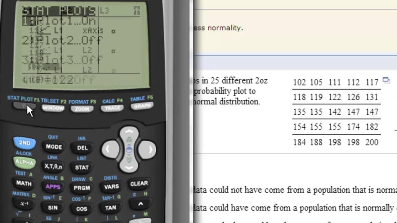 Ti Calculator Normal Probability Plots