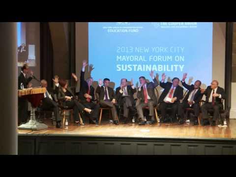 BrianLehrer.tv: 2013 NYC Mayoral Forum on Sustainability