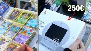Schnäppchenjagt auf dem Flohmarkt! Krasse Playstation und Vintage Karten..