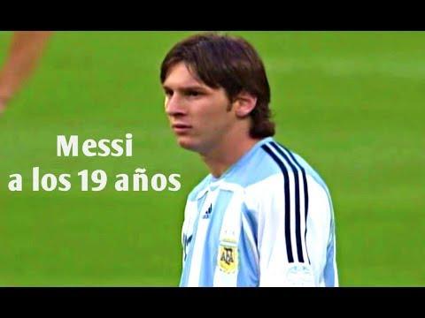 El debut de Messi en Mundiales