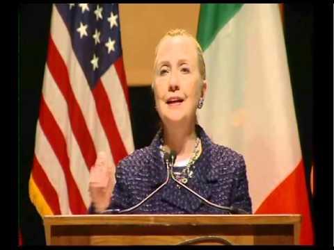Hilary Clinton visit to Dublin CIty University
