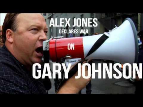 Alex Jones Declares War on Gary Johnson