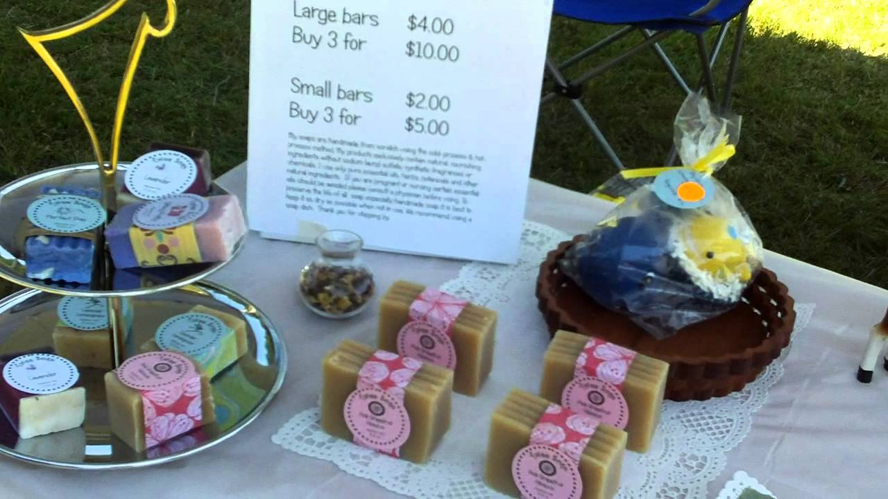 First time selling my soap at the craft fair youtube for How to sell my crafts
