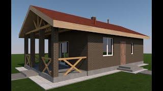 Маленький недорогой дом из газобетона. Часть 1 Планировка дома и подготовка участка