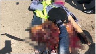 شاهد بالفيديو الهجوم الانتحاري على كنيسة العذراء في مسطرد ويفجر نفسه فوق الكوبرى
