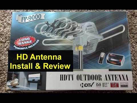 HD air antenna assembly, installation, operation and review. FP-9000 - VOTD