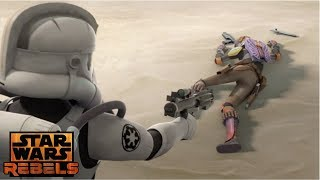 Ghost crew & mandalorians attacks imperial base (season 4)