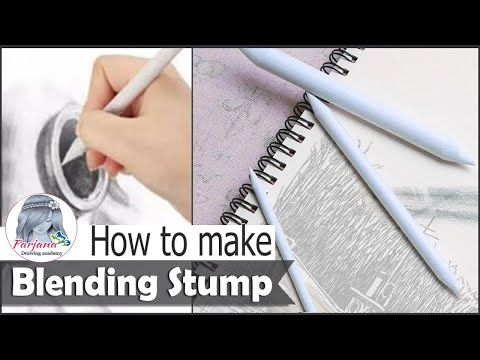 How to make your own paper Blending Stump at home ||  Handmade Blending Stump tutorial