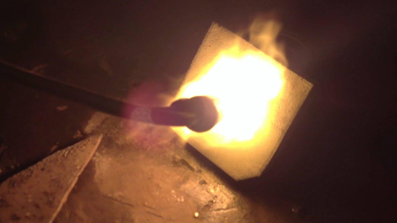 Мастика огнеупорная, испытания