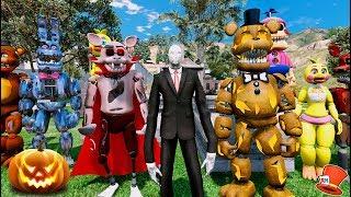 SLENDER MAN HAUNTS HALLOWEEN SCHOOL! (GTA 5 Mods For Kids FNAF RedHatter)