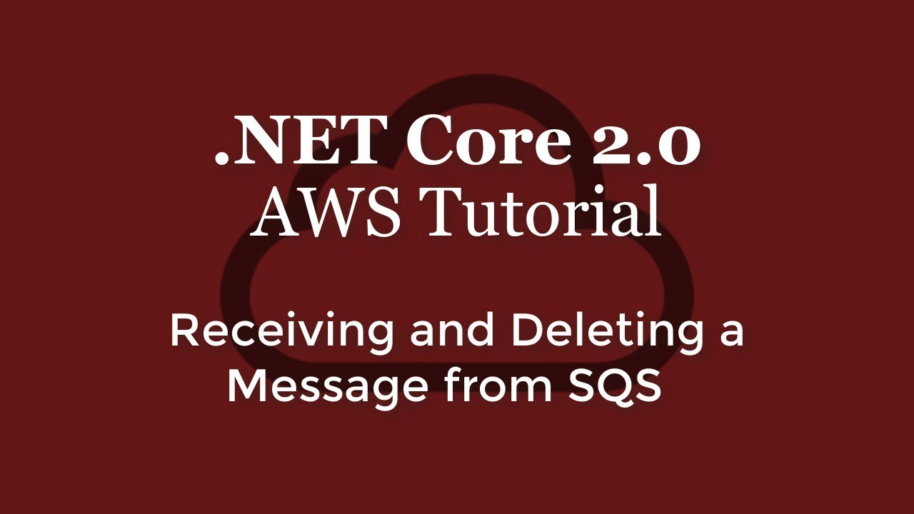NET Core 2 0 - AWS Tutorial - Receiving and Deleting a Message from SQS