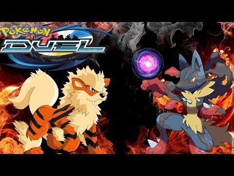 MEGA LUCARIO HYPE!?   New Stat Adjusments + Fire Gym Battle!   Pokemon Duel
