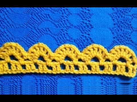 Youtube Crocheting Borders : How to Crochet the Edge / Border Stitch Pattern #15 ?by ...