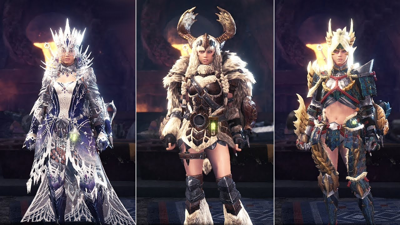 Mhw Iceborne All Female Master Rank Armors Youtube Shara ishvalda is the final boss of iceborne, and as such will be your biggest challenge yet. mhw iceborne all female master rank armors