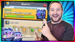 SUPER MAGICAL CHEST QUEST CYCLE REVEALED!? Clash Royale Super Magical Chest Opening