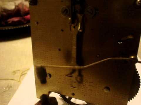 Antiguo mecanismo de reloj de pendulo para partes o for Relojes de pared antiguos de pendulo