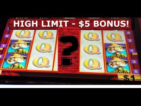 NEW YEARS EVE!  HIGH LIMIT $5 BET Konami Slot Machine POTAWATOMI CASINO - Milwaukee, WI