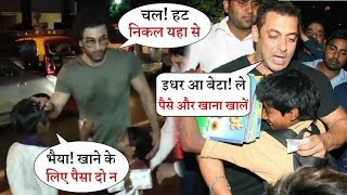 Ranbir Kapoor and Salman Khan Behaviour With Beggars  Who Win Heart