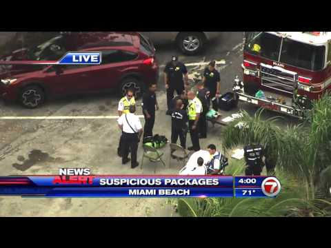 Suspicious packages in Miami Beach