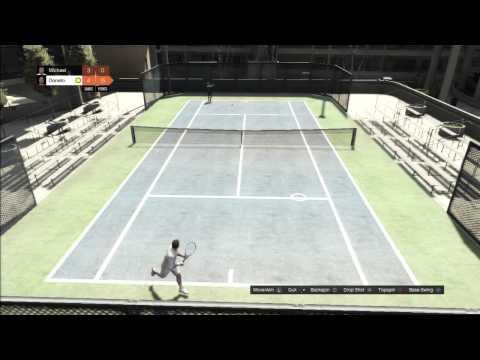 GTAV - Tennis on Hard Difficulty - I Choked!!