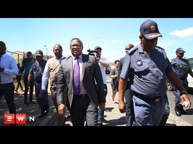 Fikile Mbalula visits Hanover Park