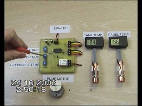 Diy Solar Hot Water System Controller Youtube