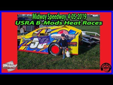 S03 E154 USRA B Mods Heat Races - 4-06-2019 Opening Night Midway Speedway #dirttrackracing
