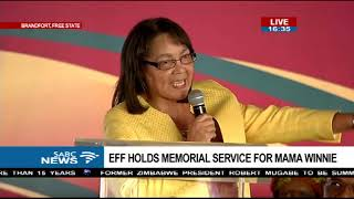 Patricia De Lille pays tribute to Mama Winnie