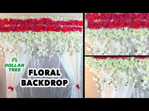 Dollar Tree - DIY Easy Backdrop Wedding Decor