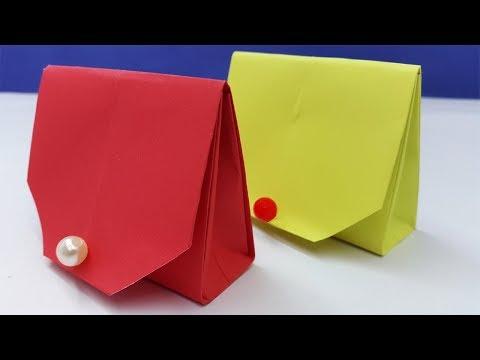 How to make a paper purse for girls | Easy origami handbag tutorial | Origami wallet -Diy paper bag