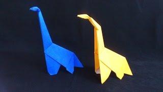 Cara Membuat Origami Dinosaurus Brontosaurus | Origami Binatang
