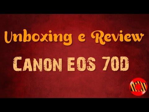 Unboxing e Review - Canon EOS 70D (Português BR)