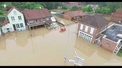 Inondations Bruay La Buissière Rue Wery