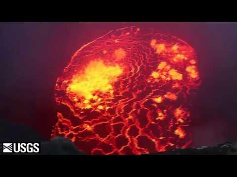 Vulkanausbrauch auf Hawaii: Drohne filmt erstmals direkt in den Krater des Kilauea