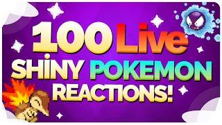100 Live Shiny Pokemon Reactions! Shiny Pokemon Montage / Compilation!