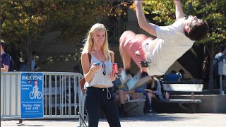 Picking Up Girls with a Backflip