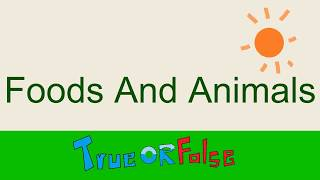 Foods and Animals -- Easy English Listening Practice --