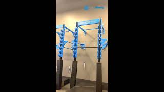 Ninja Warrior Fitness and Obstacle Course Training Gym Install